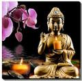 "Bright Baum Buddha LED Light Up Canvas Wall Art 20"" x 20""- #522"