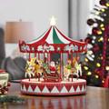 Mr. Christmas Vintage Carousel Christmas Decoration, Multi