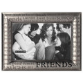 Malden International Designs Modern Pewter Metal Diecast Friends Expressions Picture Frame, 4 by 6-Inch