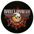 #2010471 Ande Rooney Harley Davidson HD Gearhead Skull Metal Sign