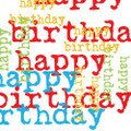 "Paperproducts Design Birthday Graphic Beverage Napkins, 5 x 5"", Multi"