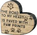 Chunky Heart Shape Paw Prints