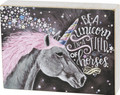 """Be a Unicorn in a Field of Horses - Primitives by Kathy 8"""" x 6"""" Chalk Style Box Sign"""
