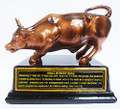 "New York Wall Street 5.5"" Bull Bronze Figurine"