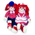 Chantilly Lane Rag Doll Duet Plush, 18""