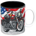 All American Motorcycle Coffee Mug/Cup For Kitchen Decor/Collectors