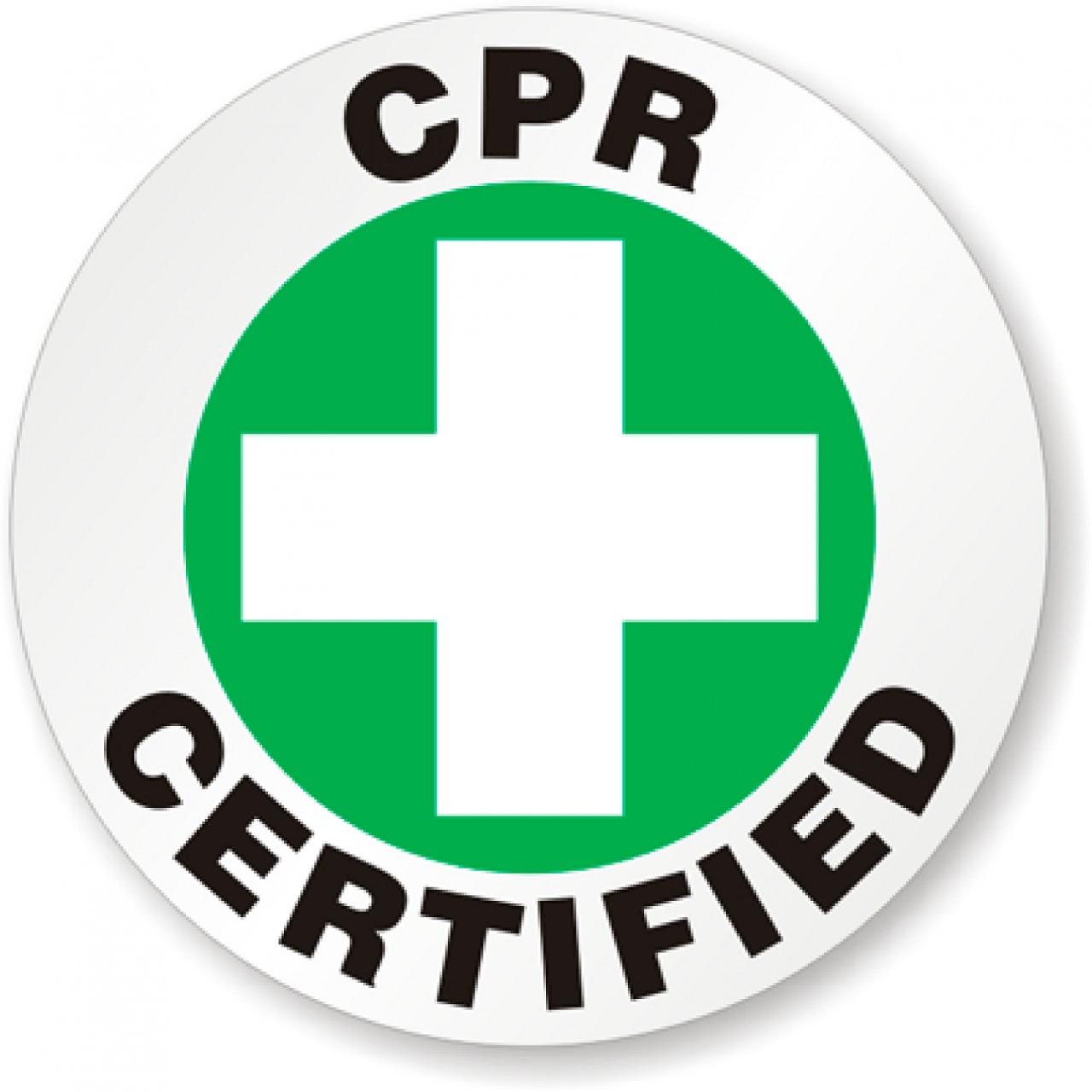 CPR Certified Sticker - SafetyKore.com