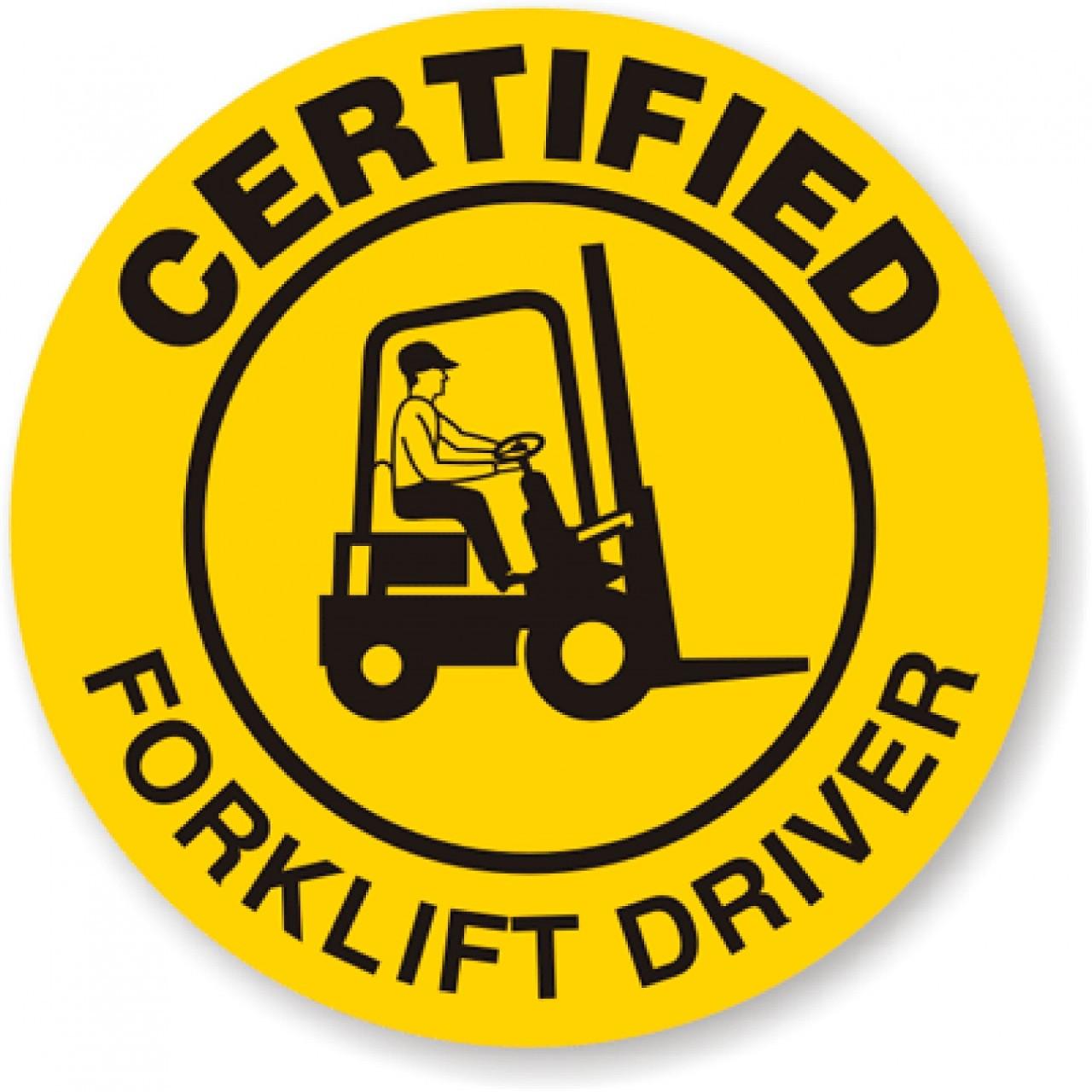 Certified Fork Lift Sticker - SafetyKore.com