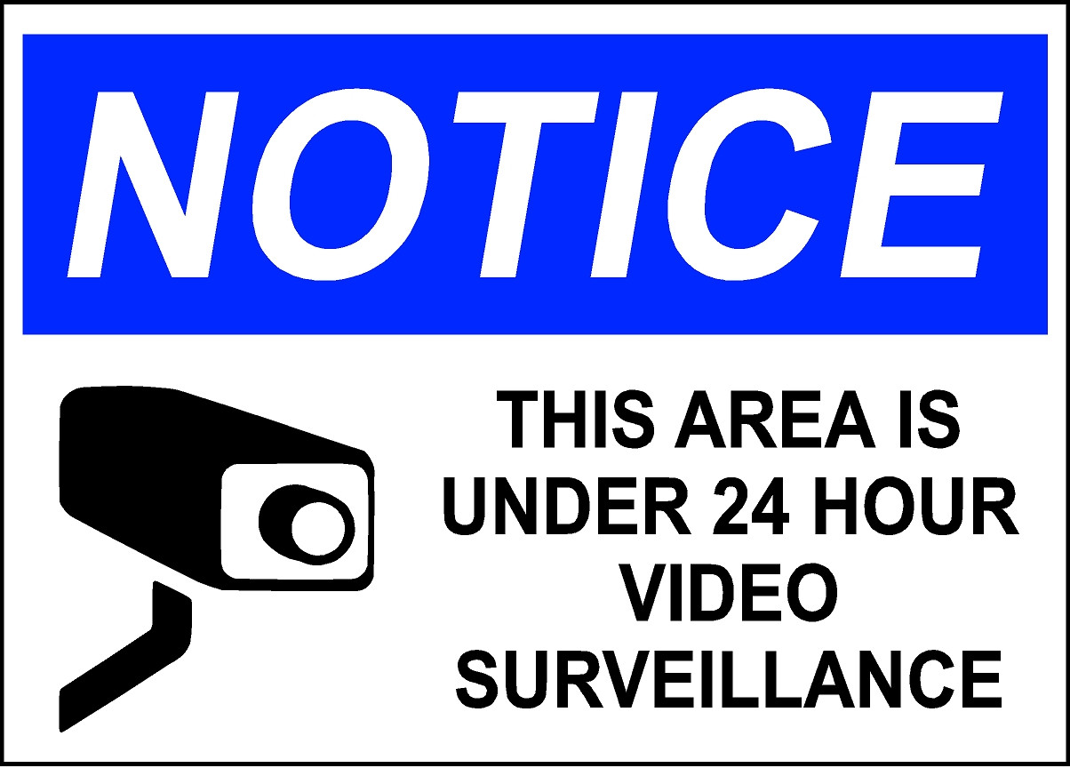 image regarding Video Surveillance Sign Printable named 100+ Printable Stability Signs or symptoms yasminroohi