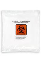 15'' x 17'' Adhesive Biohazard Specimen Transport 3 Wall Bag SKU: 149-040-1030