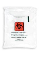 9'' x 11'' Adhesive Biohazard Specimen Transport 3 Wall Bag with Absorbent  SKU: 149-050-1015