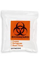 6'' x 6'' Reclosable Ziplock ''Biohazard'' 3 Wall Bag SKU: 150-050-1015