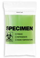 6'' x 9'' GREEN Reclosable Ziplock ''Biohazard'' 3 Wall Bag, English/Spanish  SKU: 150-050-1030