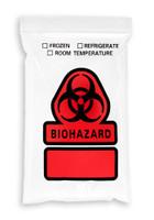 6'' x 9'' Reclosable Ziplock ''Biohazard'' 3 Wall Bag SKU: 150-050-1075