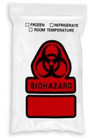 6'' x 9'' Reclosable Ziplock ''Biohazard 3 Wall Bag, No Flap  SKU: 150-050-1090