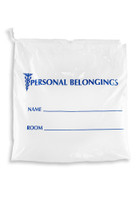 18'' x 18 1/2'' + 6'' B.G., SINGLE DRAWSTRING Patient Belonging Bag SKU: 153-010-1015