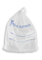 18'' x 20'' + 3.5 B.G., DRAWSTRING Patient Belonging Bag-WHITE with BLUE SKU: 153-010-1045
