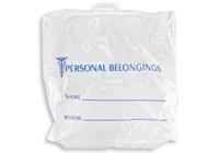 19'' x 18'' + 4'' B.G., RIGID HANDLE Patient Belonging Bag SKU: 153-010-1060