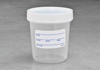 4.5oz Graduated Containers Polyethylene Screw Caps Sterile Individually Wrapped with Screw-On Caps Attached ID Label  SKU: 183-020-1000