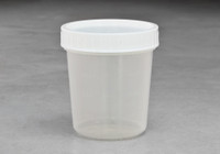 4.5oz Sterile OR Packaged Container White Cap  SKU: 183-020-1010