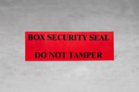 Box Security Seal- Do Not Tamper SKU: 173-110-1000