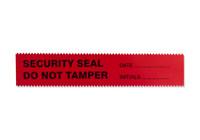 Zipr-Weld Security Tape 1.375''x108' imprinted SECURITY SEAL DO NOT TAMPER - DATE___INITIALS____ SKU: 173-120-1000