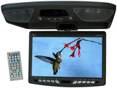 T-View T90DVFDBK 9 Inches TFT/LCD Overhead Monitor w/ Built-In DVD, IR/FM Transmitters & Remote (Black)