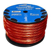 POWER WIRE 0.GA. 100' RED