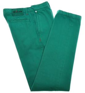 Kiton Luxury Pants Cotton Selvedge Denim 33 49 Washed Green 01PT0122