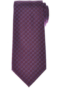 Stefano Ricci Luxury Tie Silk 59 1/2 x 3 5/8 Purple Blue Geometric 13TI0595