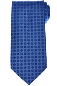 Stefano Ricci Luxury Tie Silk 59 1/2 x 3 5/8 Blue Geometric 13TI0593