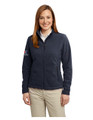 POLAR FLEECE JACKET - LADIES - Navy with sleeve XEX logos