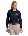 MGR LONG SLEEVE Twill SHIRT - LADIES - Navy w/chest & cuff XEX logos