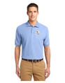 Military Star Men's Polo Shirt - Light Blue
