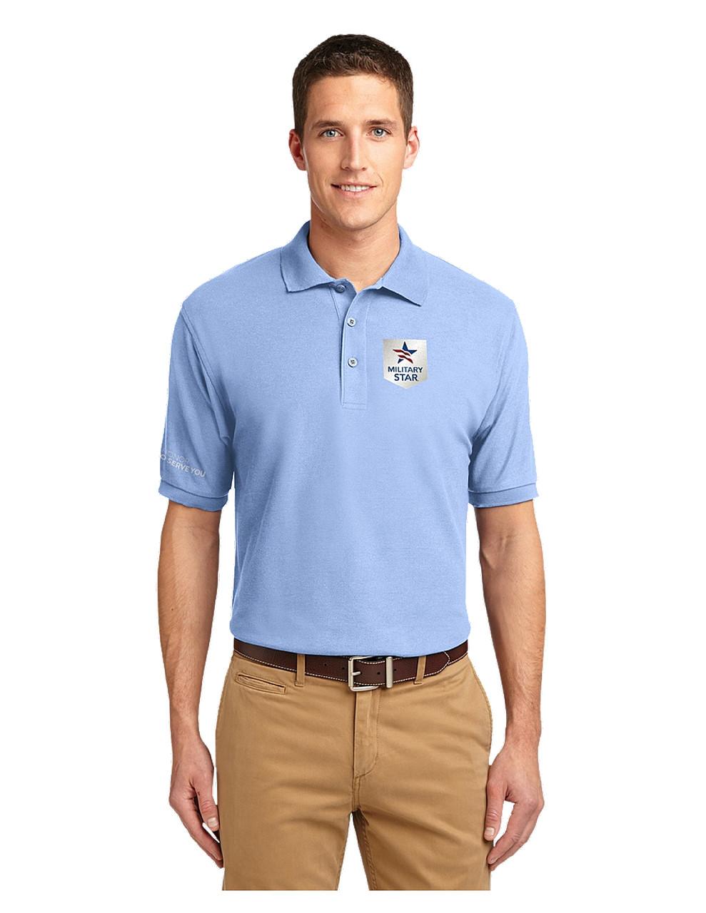 1f10ddd89 Military Star Men's Polo Shirt - Light Blue - AAFES Associate Apparel