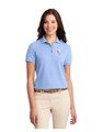 Military Star Ladies Polo Shirt - Light Blue