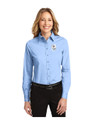 Military Star Ladies LONG SLEEVE Twill Dress Shirt - Light Blue