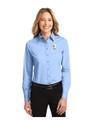 Military Star Ladies LONG SLEEVE Twill Dress Shirt - Light Blue