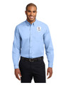 Military Star Men's LONG SLEEVE Twill Dress Shirt - Light Blue