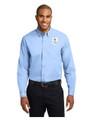 Military Star Men's LONG SLEEVE Twill Dress Shirt - Light Blue