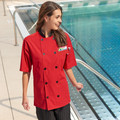 SUPERVISOR SMP Chef Coat with Pro Vent - Red