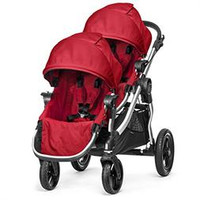 Baby Jogger City Select Stroller with 2nd Seat Ruby color - Free ergo baby carrier