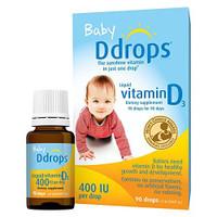 Ddrops - Baby Ddrops Liquid Vitamin D3, 400 IU per drop ( Exp04/2022)