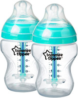 Tommee Tippee  Closer to Nature Anti-Colic Plus Bottles, 260ml/9oz (Twin Pack) 422525