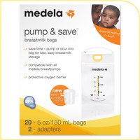 Medela - Pump & Save Breast Milk Bags ( 20 ct) PLUS Quick Clean Micro-Steam Bags