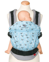 Manduca - Limited Edition Baby Carrier, Birdie Sparkling (Blue)