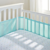 Breathable Baby - Mesh Crib Liner, Aqua Mist (18214)
