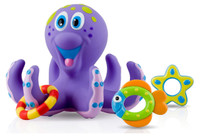 Nuby - Bathtime Fun Bath Toys, Octopus Hoopla (Purple)