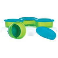 Nuby Garden Fresh - Food Storage and Freezer Pots with Tray, Blue/Green