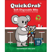 QuickGrab - Disposable Bibs (Pack Of 10)
